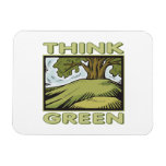 Think Green Oak Tree Magnets
