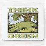 Think Green Oak Tree Mouse Pad