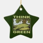 Think Green Oak Tree Ornament