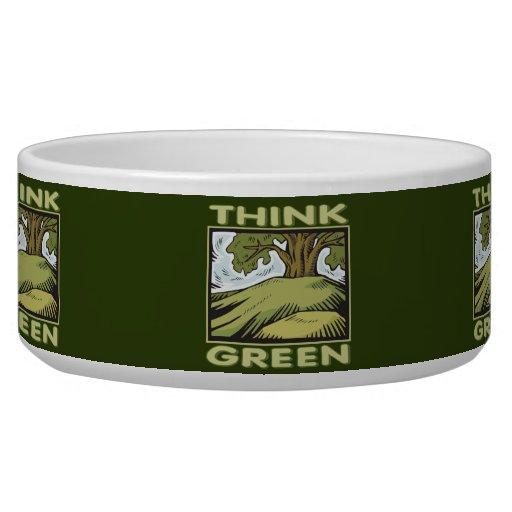 Think Green Oak Tree Pet Food Bowl