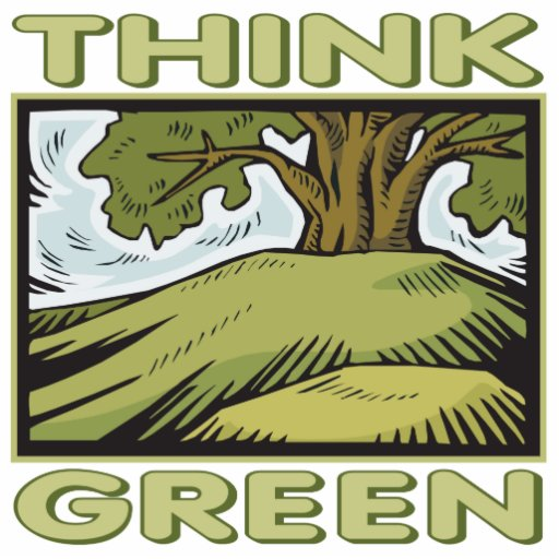 Think Green Oak Tree Photo Sculptures