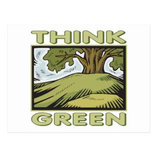 Think Green Oak Tree Postcard