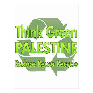 Think Green Palestine Postcard