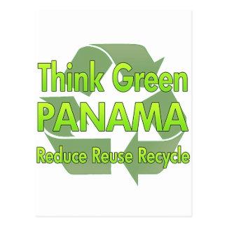 Think Green Panama Post Card