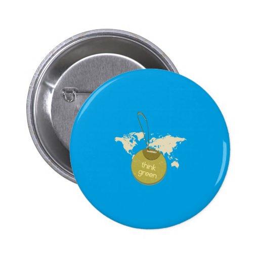 think green pin redondo 5 cm