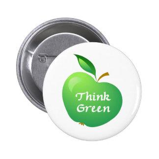 Think Green Pinback Button