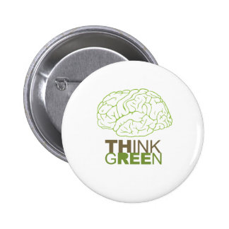THINK GREEN - PINBACK BUTTONS