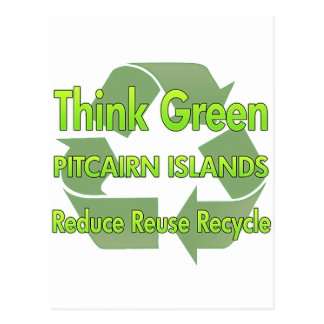 Think Green Pitcairn Islands Post Card