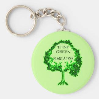 THINK GREEN PLANT A TREE KEYCHAIN