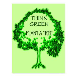 THINK GREEN PLANT A TREE POSTCARD