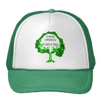 THINK GREEN PLANT A TREE TRUCKER HAT