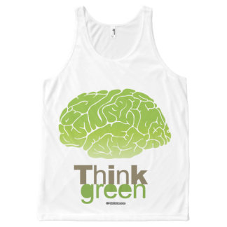 THINK GREEN Politiclothes Humor -.png All-Over Print Tank Top