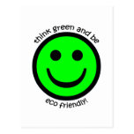 Think green post card