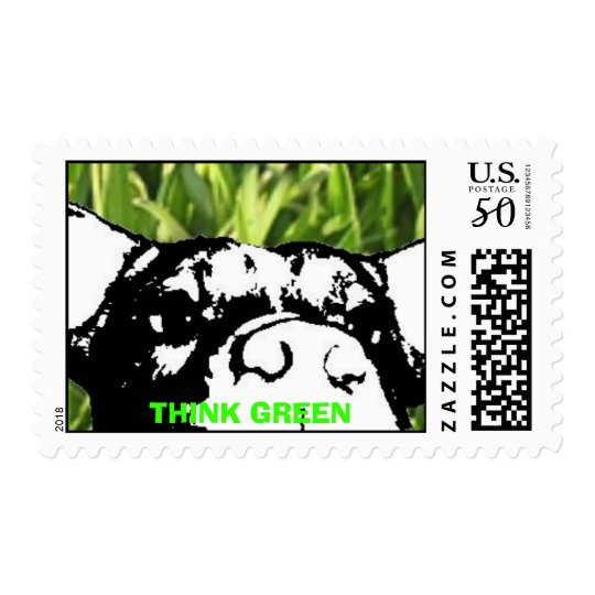 THINK GREEN POSTAGE STAMP