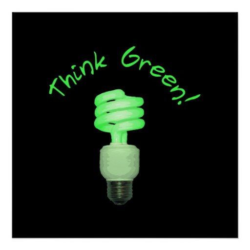 Think Green! Poster
