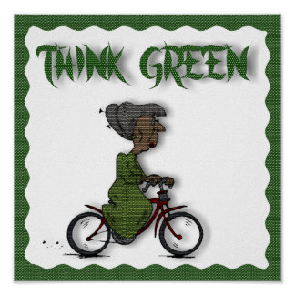 THINK Green -POSTER