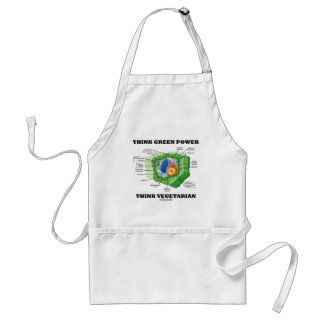 Think Green Power Think Vegetarian (Plant Cell) Adult Apron