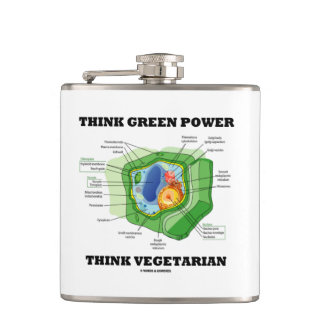 Think Green Power Think Vegetarian (Plant Cell) Flask