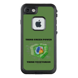 Think Green Power Think Vegetarian Plant Cell LifeProof FRĒ iPhone 7 Case