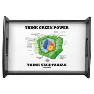 Think Green Power Think Vegetarian (Plant Cell) Serving Tray
