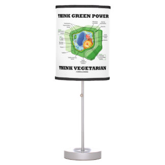 Think Green Power Think Vegetarian (Plant Cell) Table Lamp