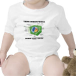 Think Green Power Think Vegetarian (Plant Cell) Baby Bodysuits