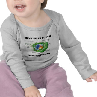 Think Green Power Think Vegetarian (Plant Cell) T-shirts