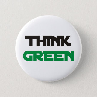 Think Green Products & Designs! Button
