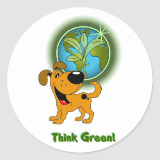 Think Green! - Pumpkin Sticker