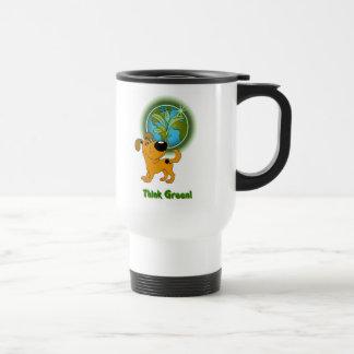 Think Green! (Pumpkin) Travel Mug