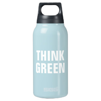 THINK GREEN Quotes Thermos Bottle
