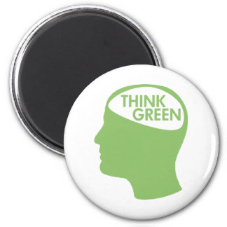 Think Green Recycle 2 Inch Round Magnet