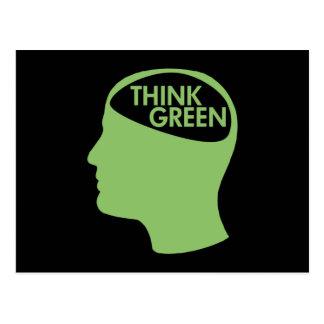Think Green Recycle dark Postcard