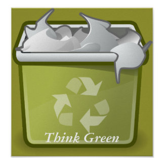 Think Green Recycle Print