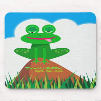 Think Green: Recycle, Reuse, Restore. Mousepad