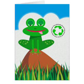Think Green: Recycling Awareness Stationery Note Card