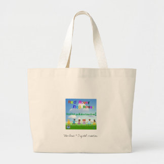 Think green...,red, blue, pink...think clean/clear jumbo tote bag