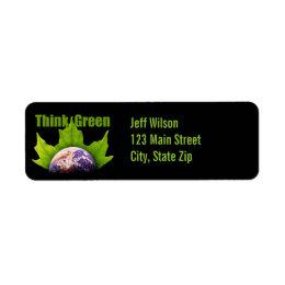Think Green Return Address Labels