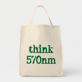 think green reusable grocery bag