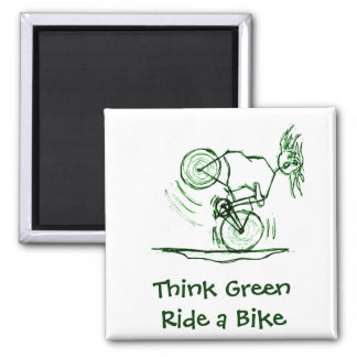 Think Green Ride a Bike Magnet