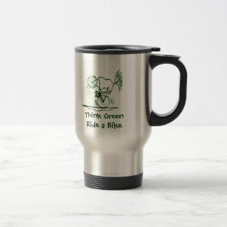 Think Green Ride a Bike Coffee Mug