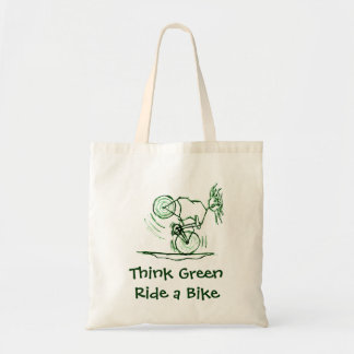 Think Green Ride a Bike Tote Bag