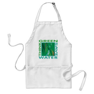 Think Green, Save Water Adult Apron