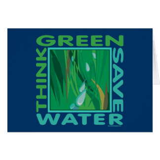 Think Green, Save Water Card
