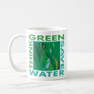 Think Green, Save Water Coffee Mug