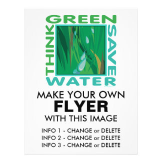 Think Green, Save Water Flyer