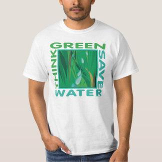 Think Green, Save Water T Shirt