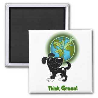 Think Green! (Shadow) Magnet