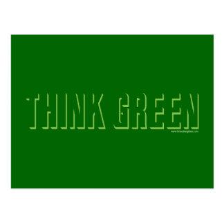 Think Green - Shadow Postcard