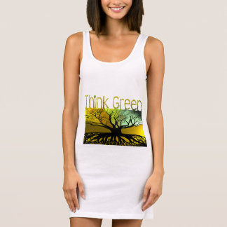 Think Green Sleeveless Dress